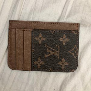 LV Women's Brown Leather Card Holder